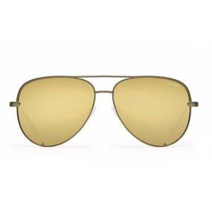 Quay x Desi High Key Sunglasses Green/Gold